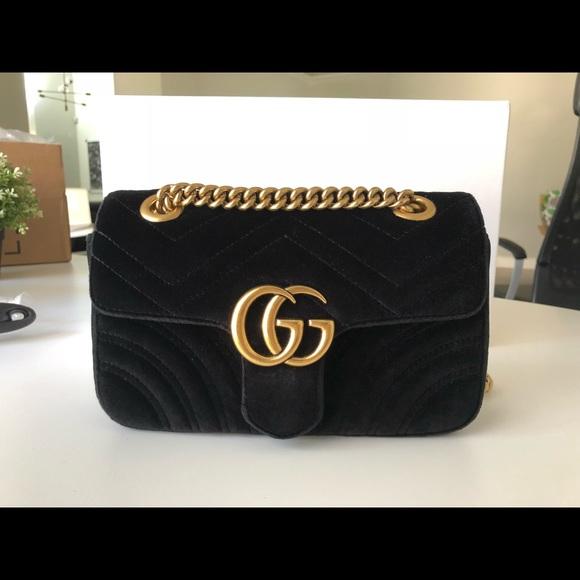 c981c333422b5 Gucci Handbags - Gucci GG Marmont mini velvet